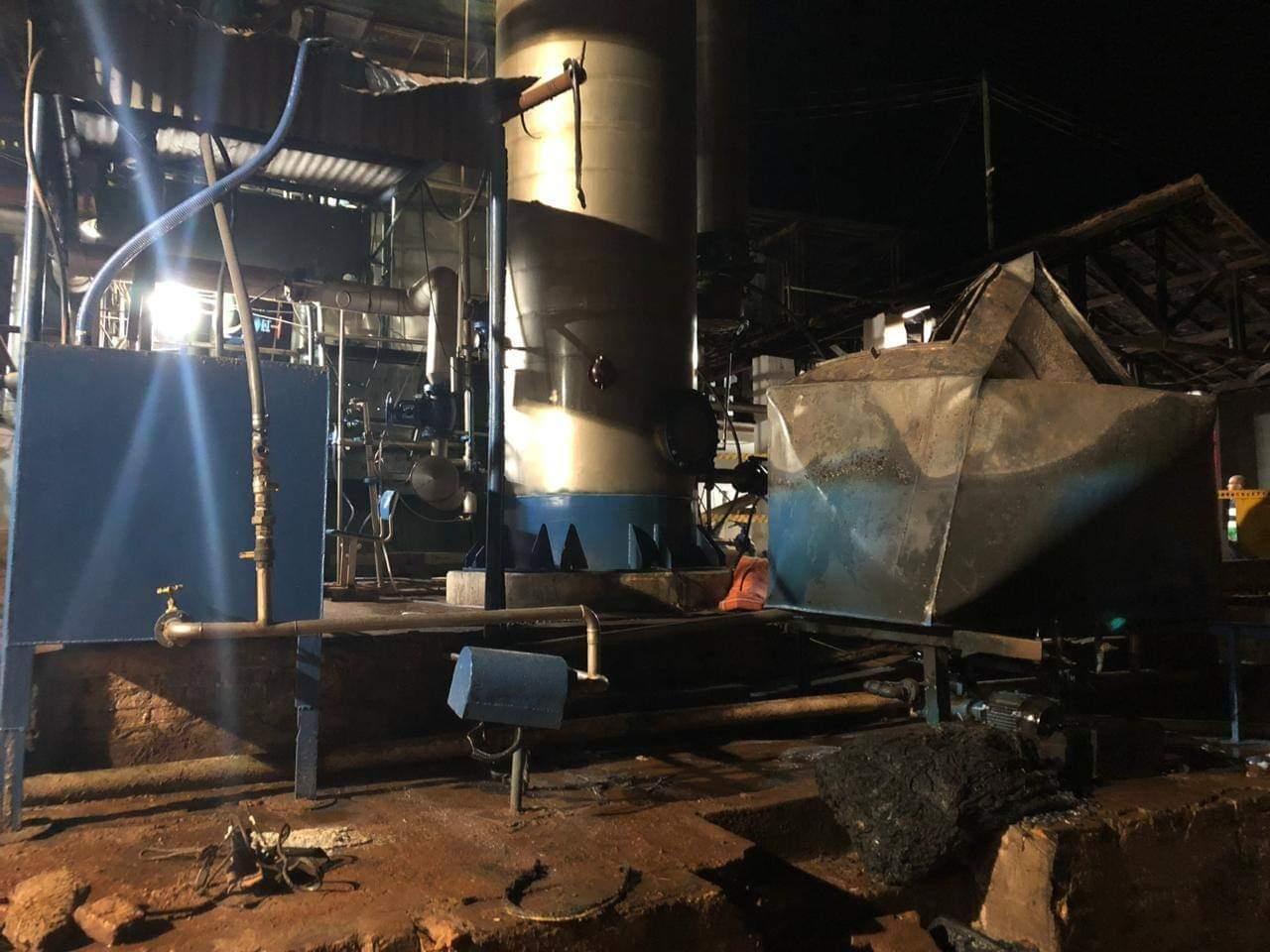 Destilaria incendeia e mata trabalhador em Palmital