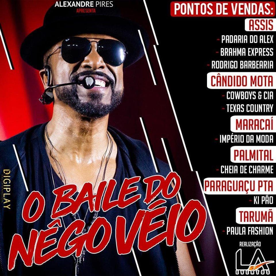 Assis recebe nesta sexta, 13, Alexandre Pires com o show 'Baile do Nêgo Véio' na ADPM