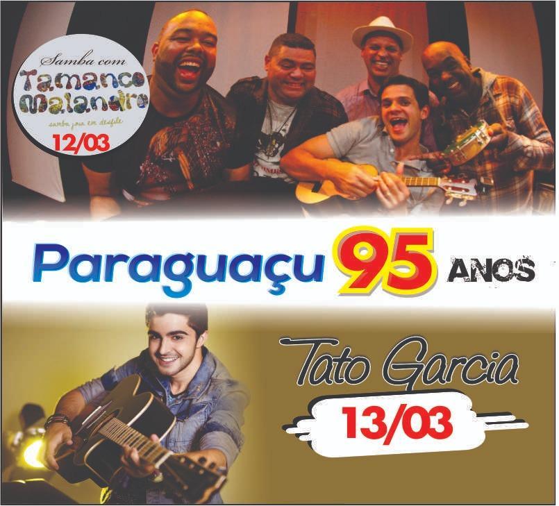 Prefeitura realizará shows em comemoração aos 95 anos do aniversário de Paraguaçu Paulista
