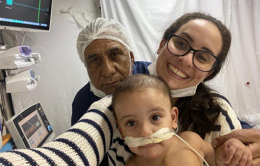 Neto de paraguaçuense recebe novo coração em transplante após meses de espera
