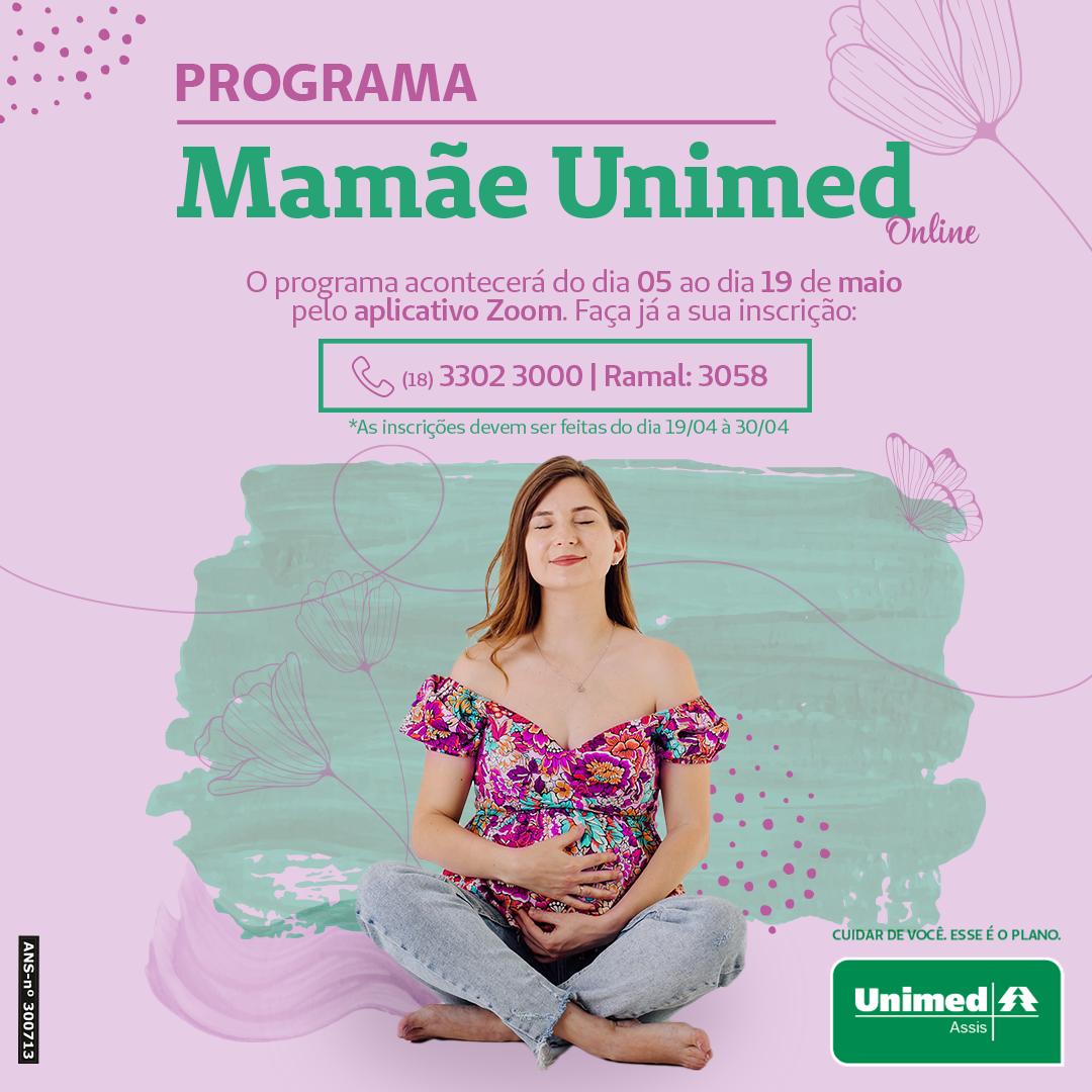 Unimed Assis está com inscrições abertas para o Programa Mamãe Unimed Online